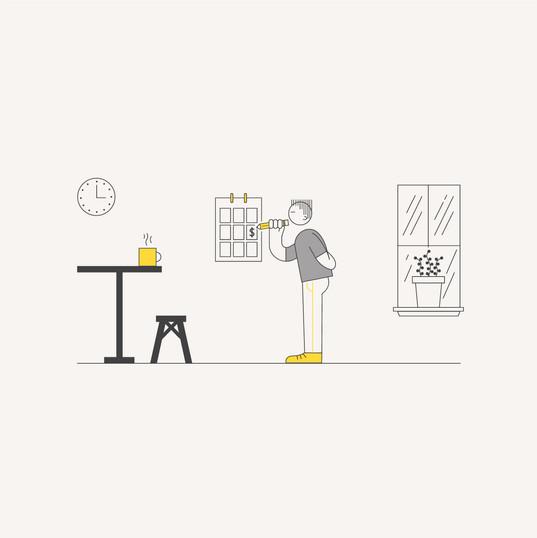 eCommerce Illustration: Monthly Plan