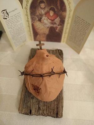 Jesu heliga hjärta, skulptur i lera av Marie Ek Lipanovska