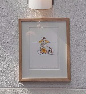 Ömhetsbevis utställning med Marie Ek Lipanovska i Strandkyrkan
