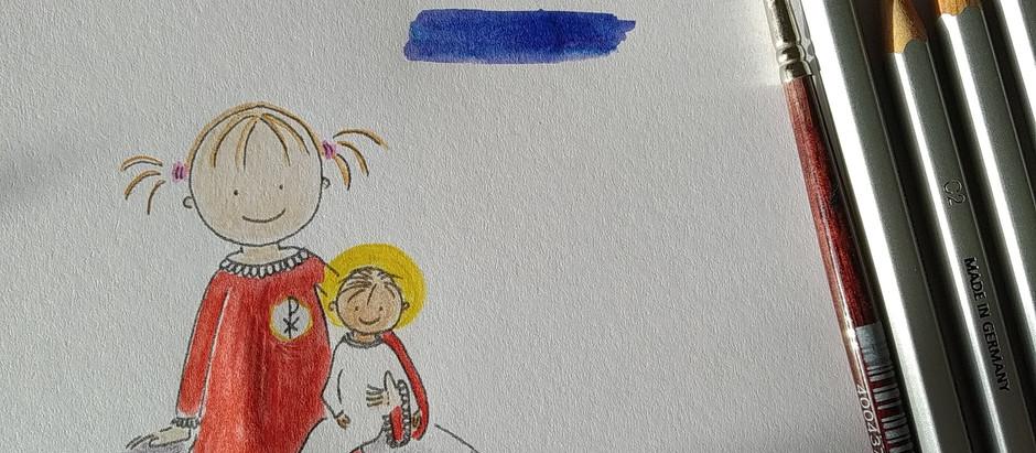 Sötnosen i de fem liturgiska färgerna