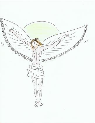 Ömhetsbevis 6, illustration Jesus av Marie Ek Lipanoska