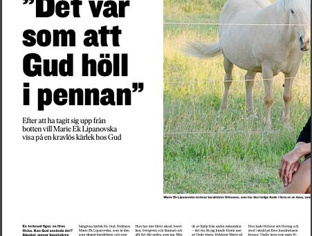 Intervjun i tidningen Dagen