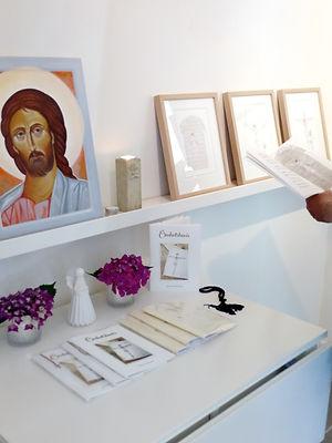 Utställnngen Ömhetsbevis på Galleri St Helene i Tisvildeleje, Danmark
