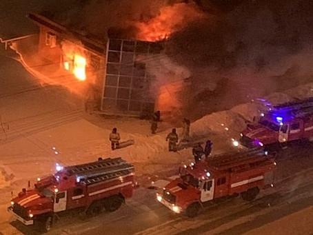 Сгорел Похоронный дом «Некрополь»
