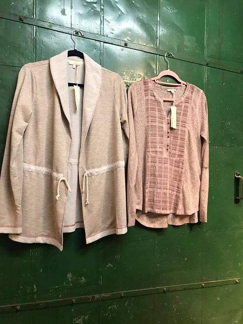tan scrunched belt jacket