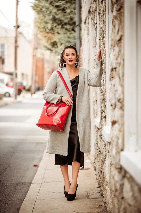 Heather Grey Long Fuzzy Textured Cardigan