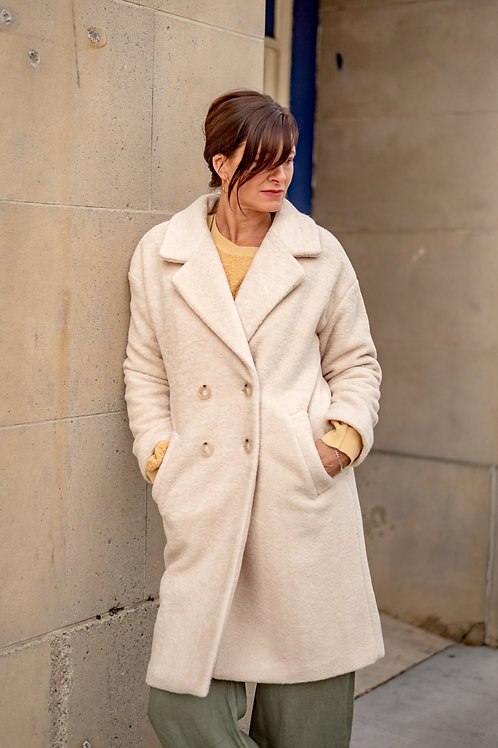 Heavy Cream Coat from Paris
