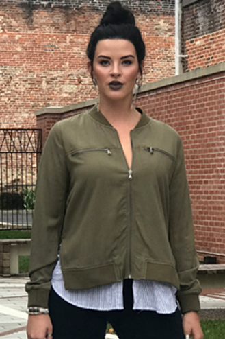 Hunter Green Jacket with attached top