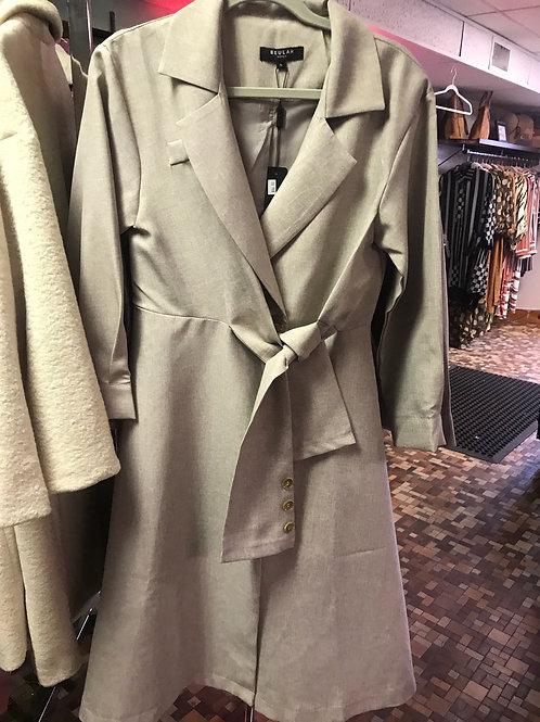 Tan Coat Dress
