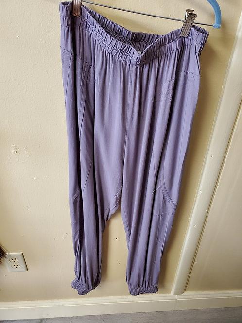 violet bunched active lounge pants