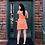 Thumbnail: Tangerine Spaghetti Strap Ruffle Dress