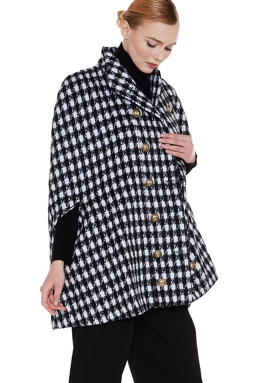 hounds tooth cape