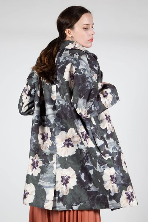 pansy flannel coat