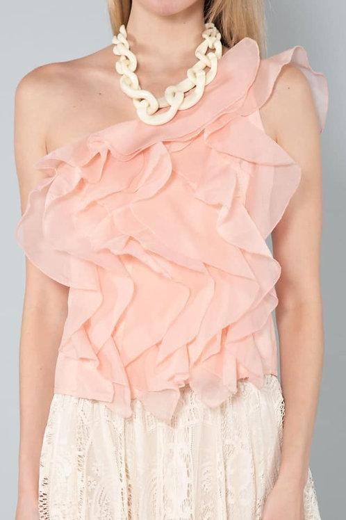 off the shoulder pink