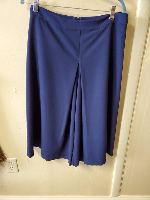 navy blue pleated pants