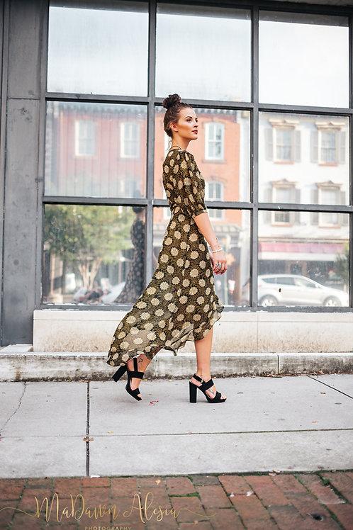 Brown Wrap Dress