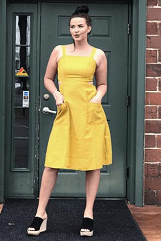 Mustard Smock Dress