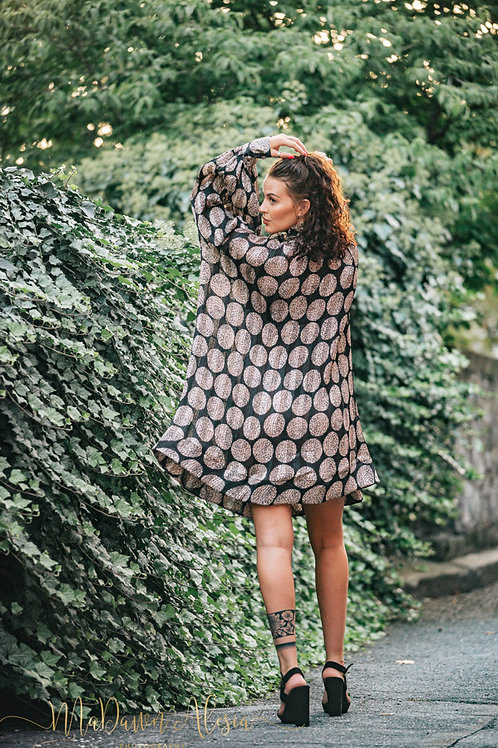 Renaissance Dress with Pink Circles