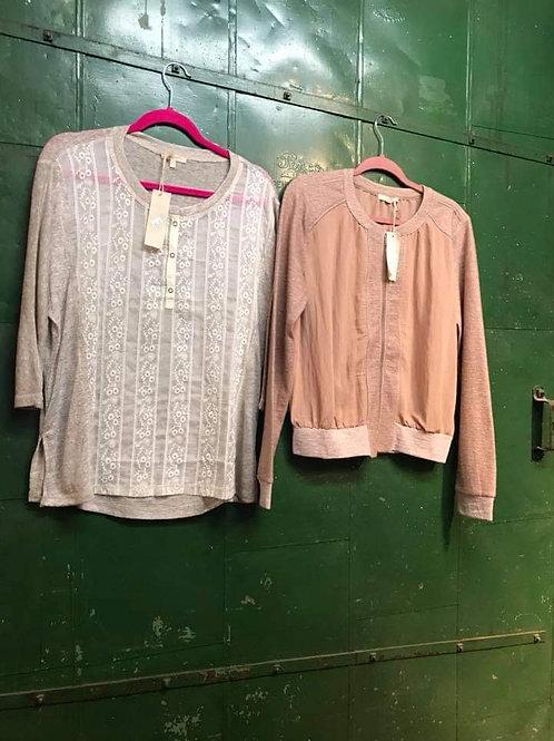 off pink zip up active or dressy