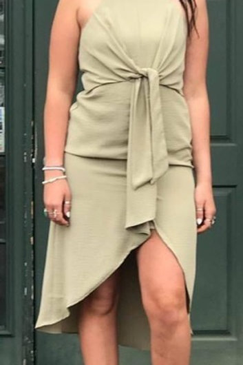 olive green sundress