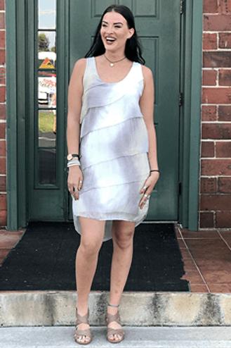Italian Silk Tiered Dress