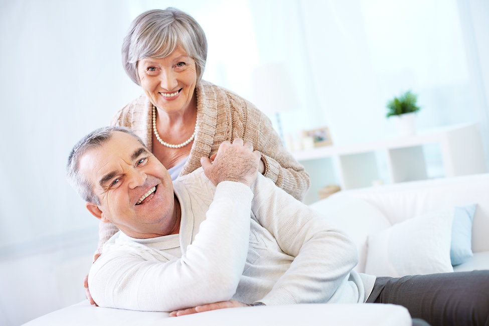 Portrait of a happy senior couple lookin