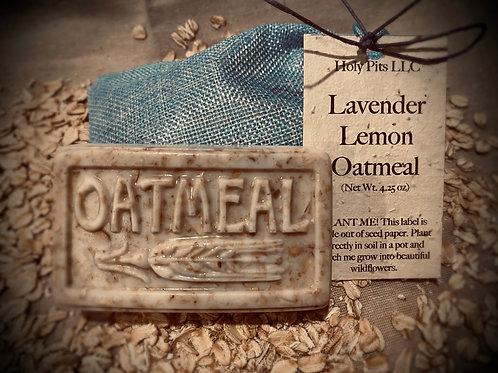 Lavender Lemon Oatmeal Soap Bar 4.25oz