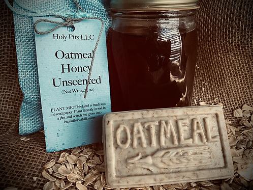 Unscented Honey Oatmeal Soap Bar