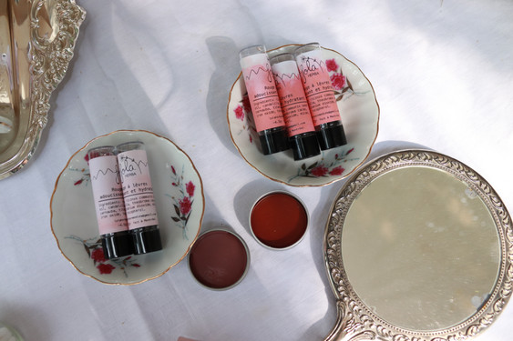 Mauve and Rusty Red Natural Lipsticks
