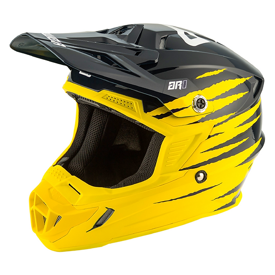 HELMET AR1 PRO GLO 2020 YELLOW/MIDNIGHT/WHITE
