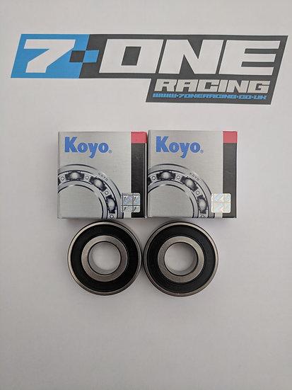 Front Wheel Bearing KOYO 6202 Set (x2 Bearings)