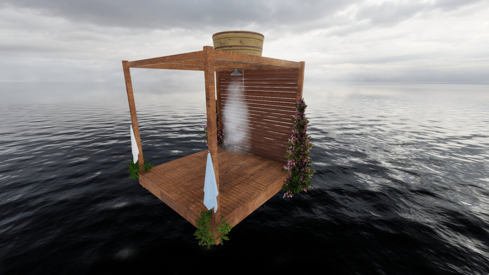 Outdoor shower by Torax reworked by JuliaNelson