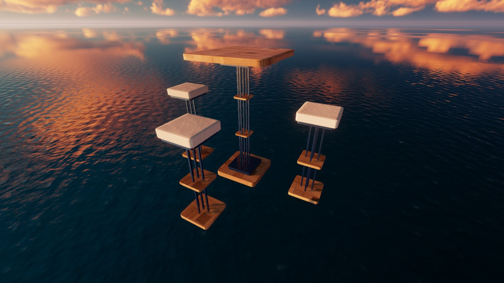 High Table and Chairs by Torax