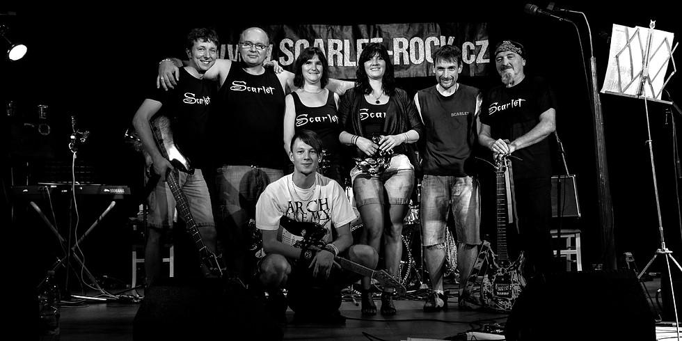 Scarlet rock