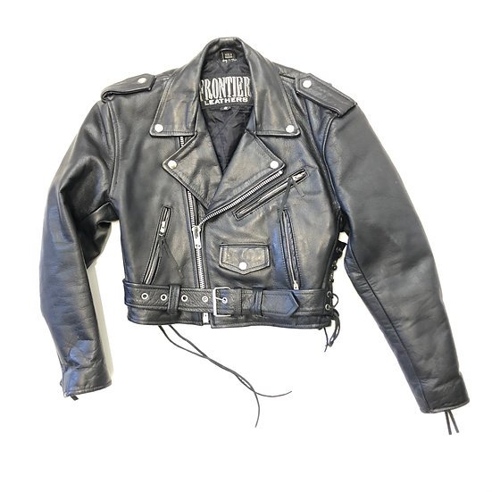 90s Frontier Leather Motorcycle Jacket