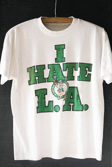 """""""I HATE L.A."""" Boston Celtics Vintage Tee"""