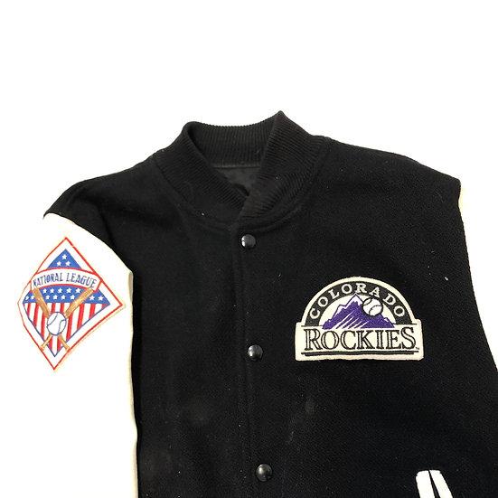 90s Colorado Rockies Letterman Jacket
