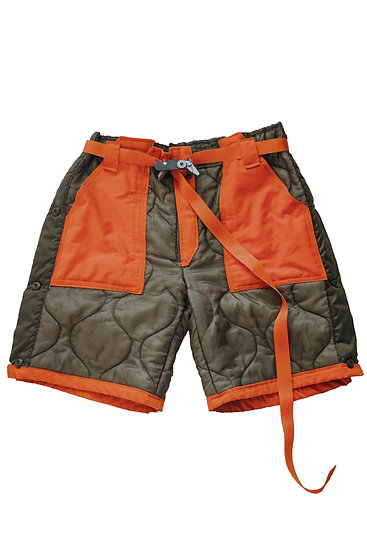 Custom One-of-One Ready-to-Wear Military Liner Shorts by Miah Richards