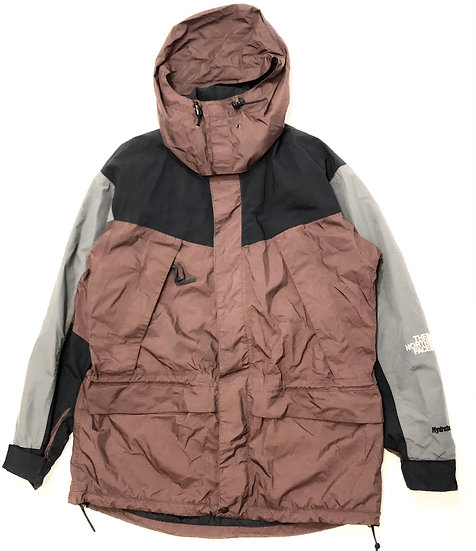 90s The North Face Hydroseal Waterproof Jacket (Brown/Black/Grey)