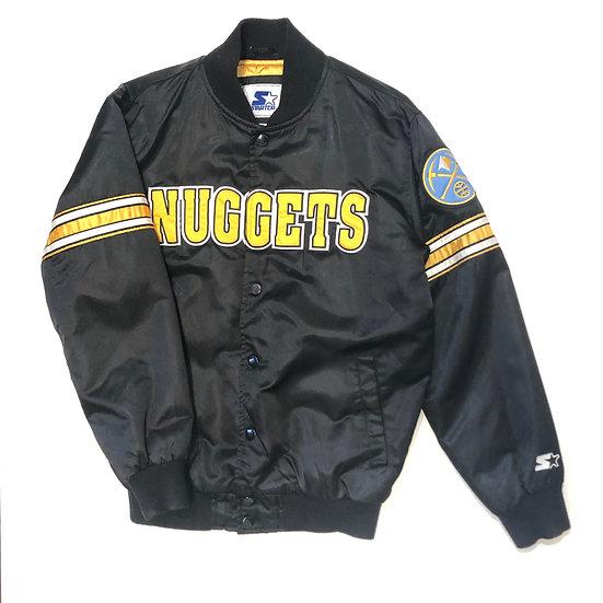 2003 Denver Nuggets Satin Starter Bomber Jacket