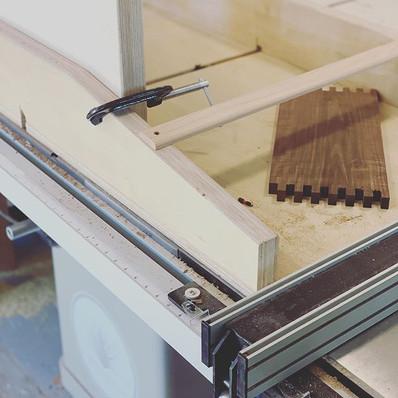 Progress shots on a walnut dresser-Today