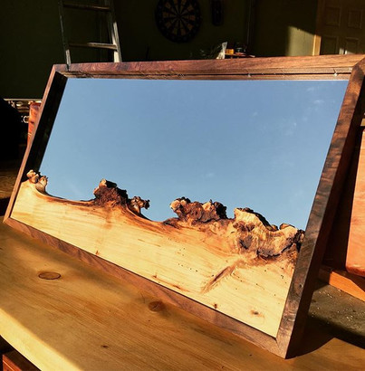 Cottonwood Burl and Walnut mirror.jpe_I