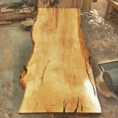 Local Navajo Willow top for my table and