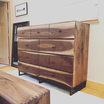 This Walnut Dresser accompanied the bedr