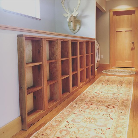 Built in Oak bookcase. This was for a re