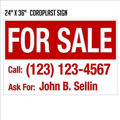 For Sale Sign (24x36)