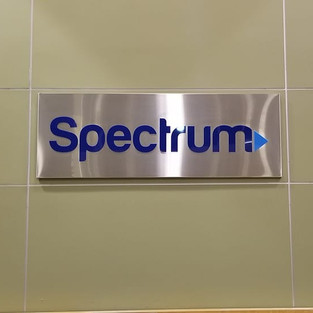 SPECTRUM STAINLESS STEEL SIGN
