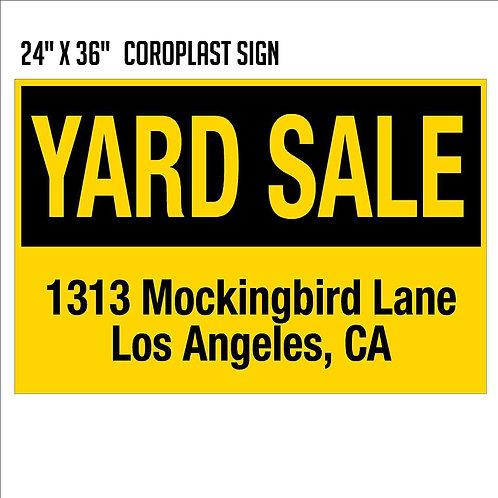 Yard Sale Sign (24X36)