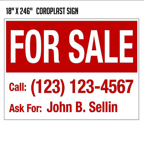 For Sale Sign (18x24)