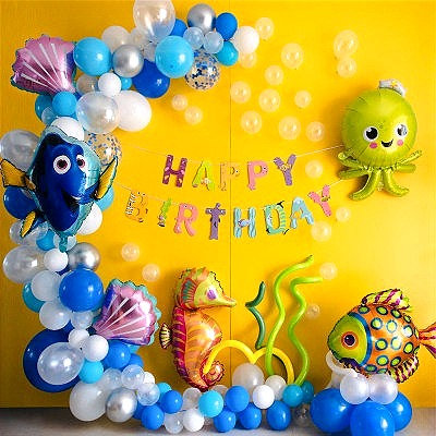 Underwater World Theme Balloon Party Box